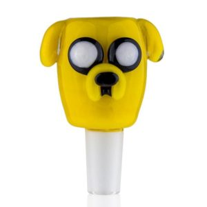 yellow dog shaped bong pack attachment