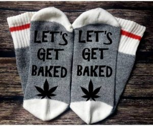 let's get baked socks 420 gift ideas