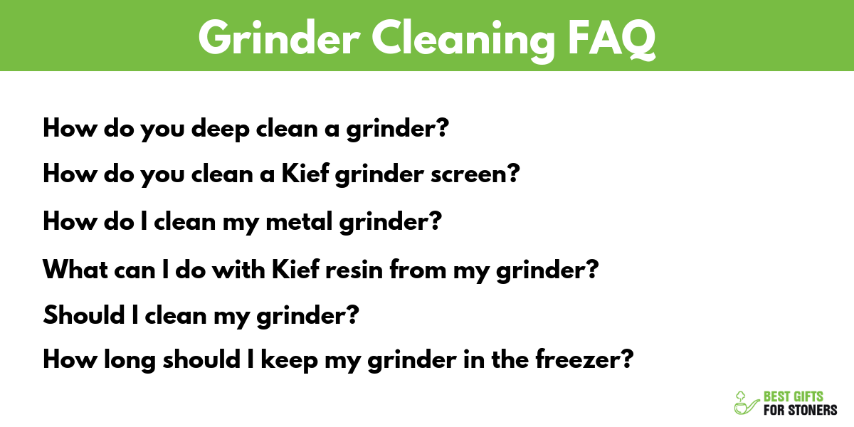 grinder cleaning faq