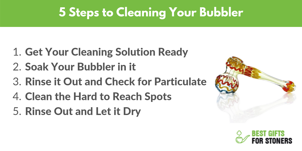 best way to clean your bubbler in 5 steps