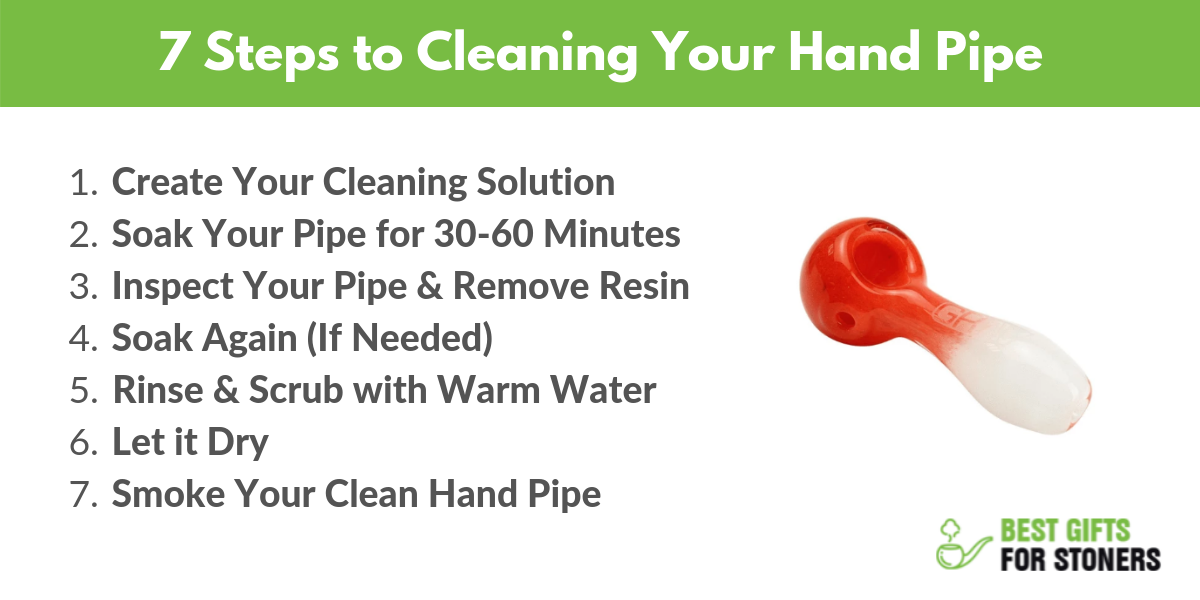 best way to clean your hand pipe in 7 steps