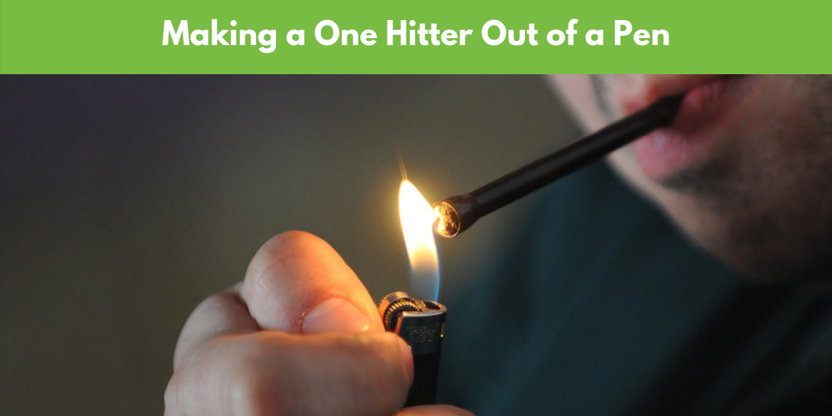 how to make a one hitter pipe out of a pen