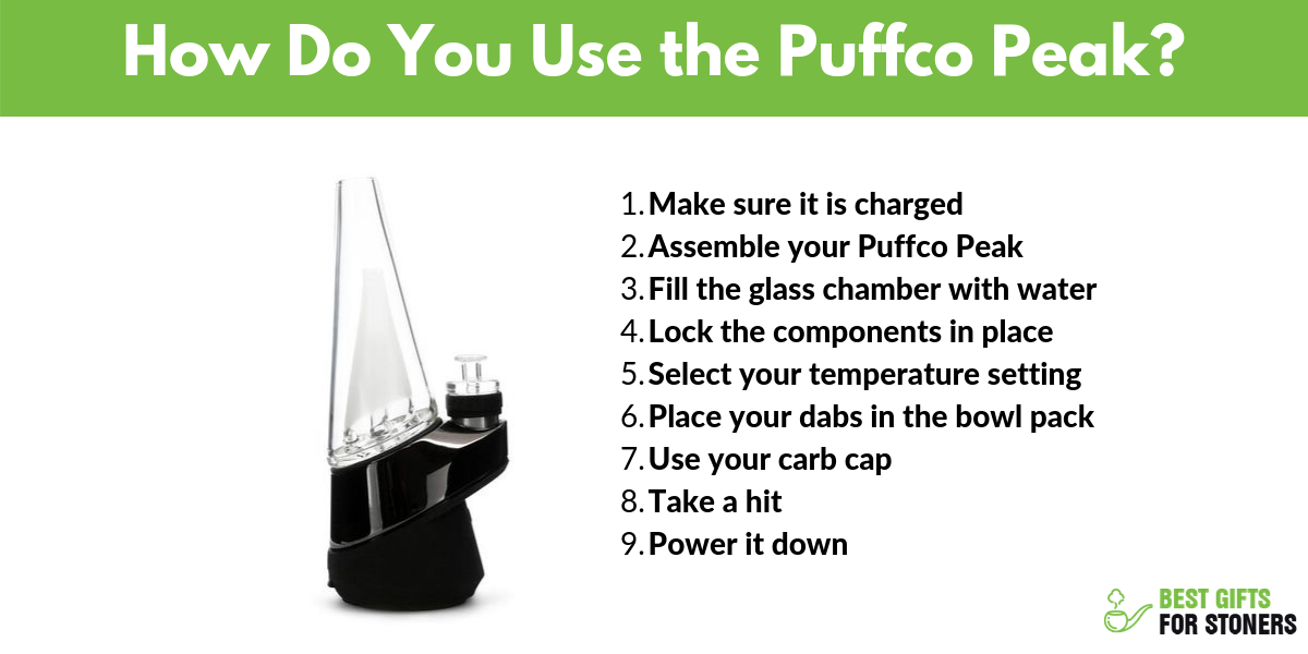how to use the puffco peak portable dab rig