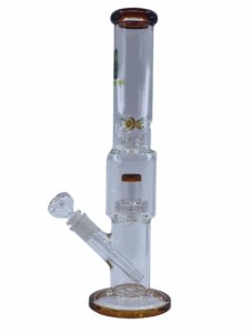 16 inch straight tube bong with double matrix perc by alient ape