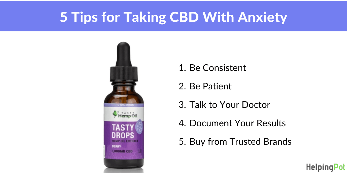 how to take cbd for anxiety - 5 tips to get the best results