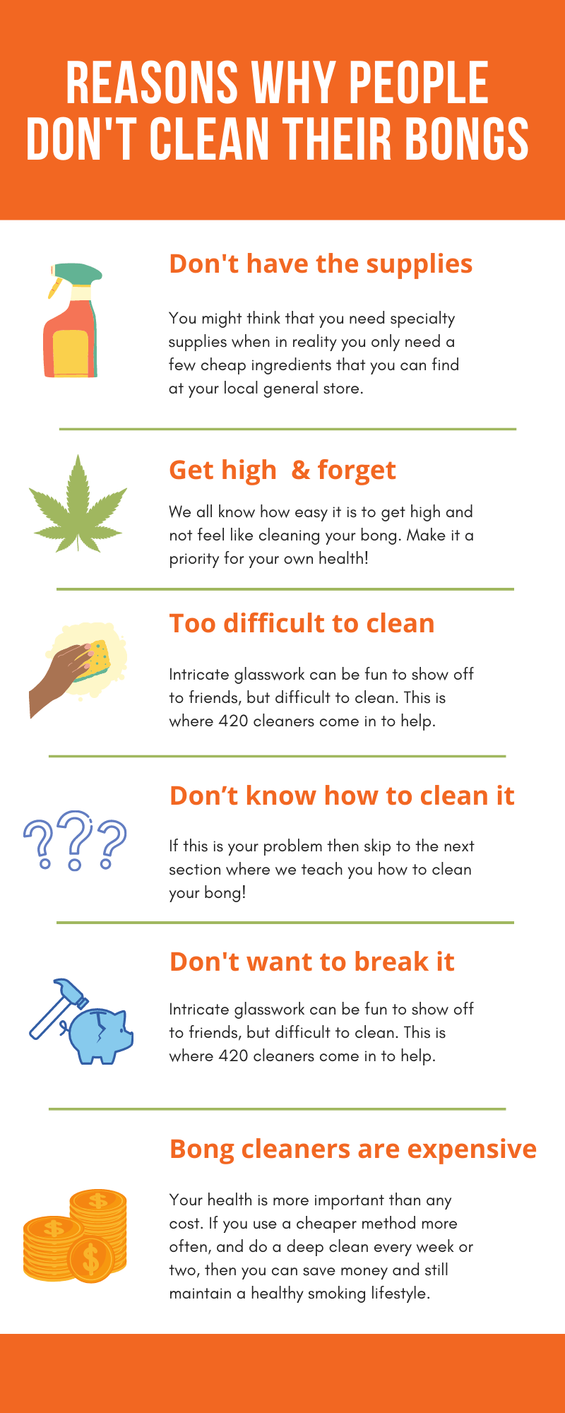 Why people don't clean their bongs