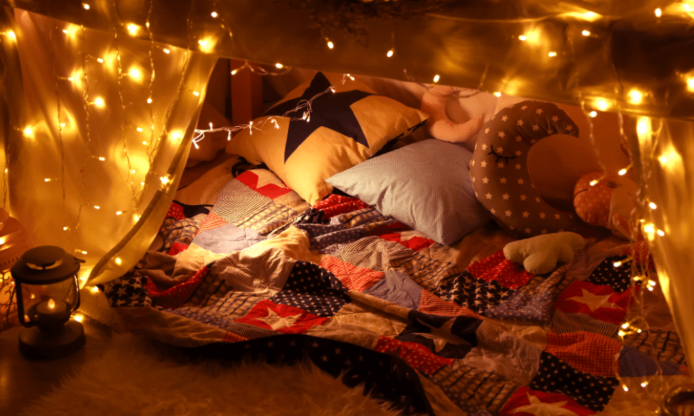 What to do while your high during winter - hot box a blanket fort