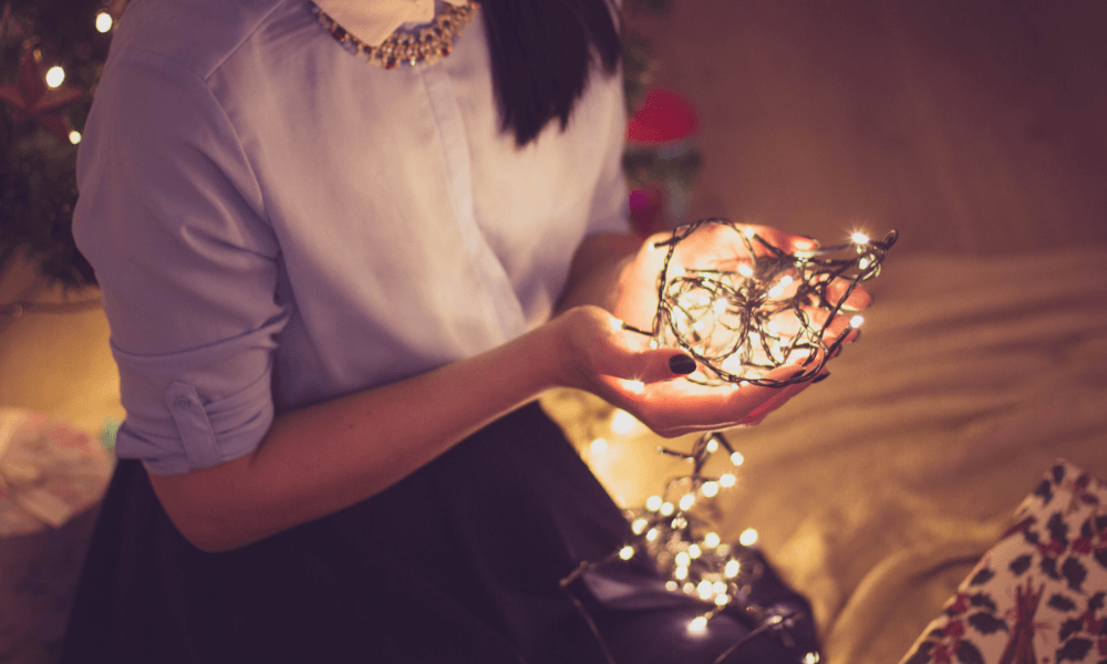 Things to do while your high - Hang Christmas lights